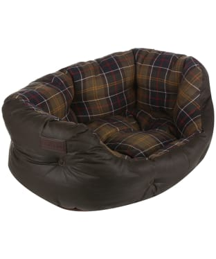 "Barbour Wax Cotton Dog Bed 24"" - Classic / Olive"