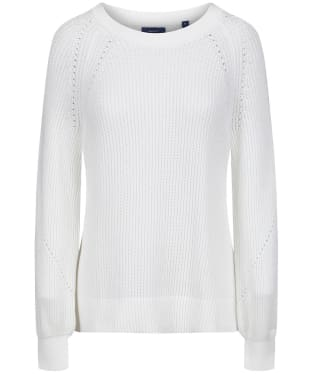 Women's GANT Comfy Ribbed Crew Sweater - Eggshell