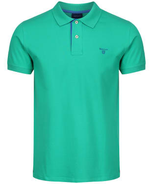 Men's GANT Contrast Collar Pique - Blarney Green