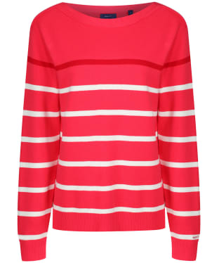 Women's GANT Breton Striped Sweater - Watermelon Red