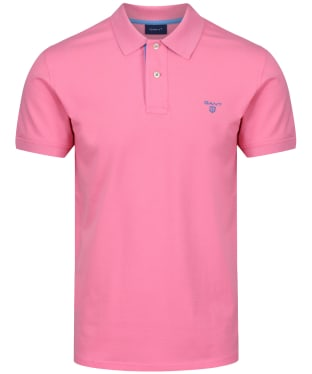 Men's GANT Contrast Collar Pique - Pink Rose