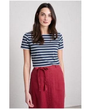 Women's Seasalt Sailor T-Shirt - Breton Night Ecru