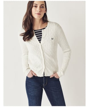 Women's Crew Clothing Cable Cardigan