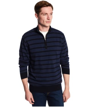 Men's Dubarry Abbeyville Zip Neck Sweater - Navy Multi