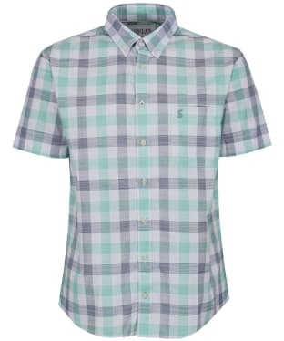 Men's Joules Wilson Short Sleeve Check Shirt - Green Check