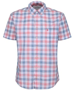 Men's Joules Wilson Short Sleeve Check Shirt - Pink Check