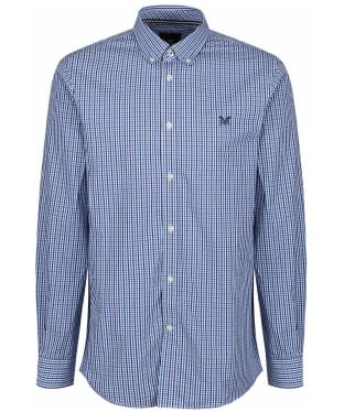 Men's Crew Clothing Tattersall Check Shirt - Lapis Blue