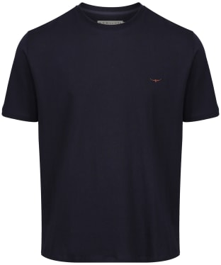 Men's R.M. Williams Parson T-Shirt - Navy / Chestnut