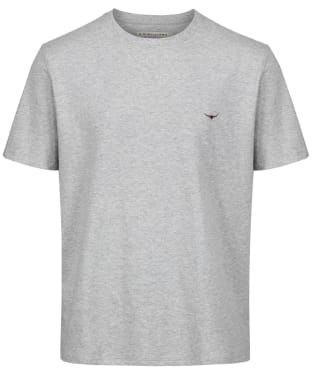 Men's R.M. Williams Parson T-Shirt - Grey Marl / Chestnut