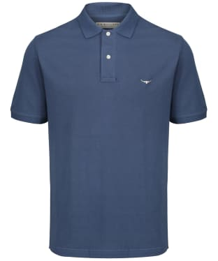 Men's R.M. Williams Rod Polo Shirt - Mid Blue