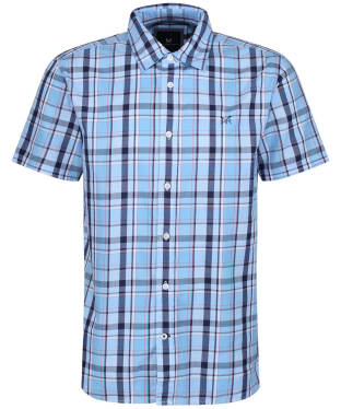 Men's Crew Clothing Pendower Check Shirt - Sky / Navy