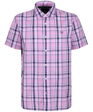 Men's Crew Clothing Pendower Check Shirt - Pink / Navy