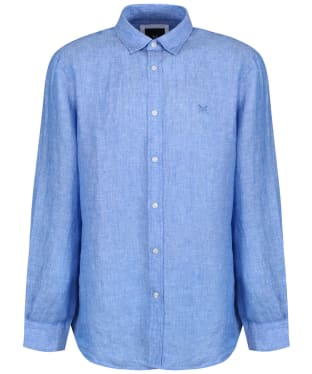 Men's Crew Clothing Classic Linen Shirt - Classic Blue