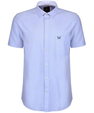 Men's Crew Clothing Plain Short Sleeve Shirt - Sky