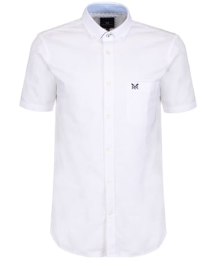 Men's Crew Clothing Plain Short Sleeve Shirt - White