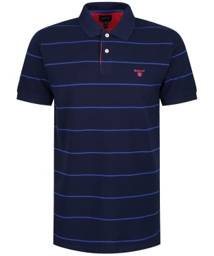 Men's GANT Pique Rugger Polo Shirt - Evening Blue