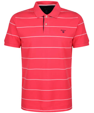 Men's GANT Pique Rugger Polo Shirt - Watermelon Red