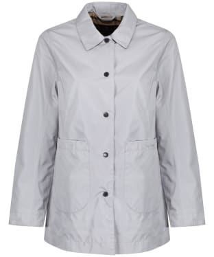 Women's Barbour x Sam Heughan Livingstone Waterproof Jacket - Ice White