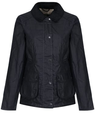 Women's Barbour x Sam Heughan Dover Waxed Jacket - Navy