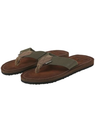 Men's Barbour Toeman Beach Sandals - Olive