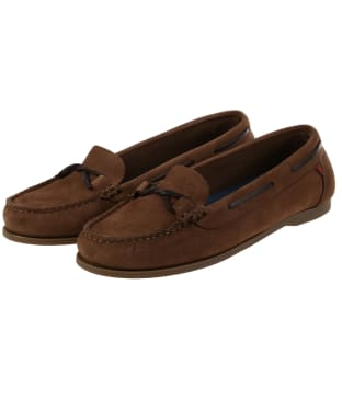 Women's Dubarry Rhodes Boat Shoes - Cafe