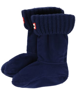 Hunter Kids Half-Cardigan Stitch Boot Socks - Navy