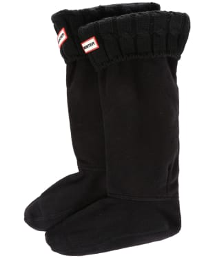 Hunter Original Six-Stitch Cable Boot Socks - Black