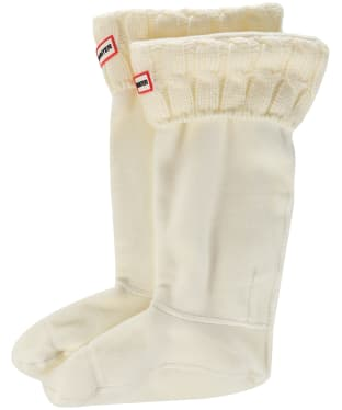 Hunter Original Six-Stitch Cable Boot Socks - Natural White