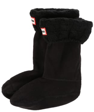 Hunter Original Kids Cable Knitted Boot Socks - Black