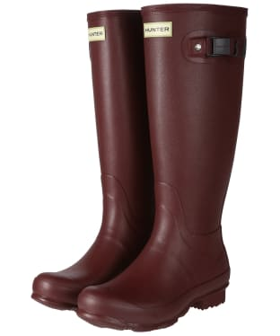 Women's Hunter Norris Field Wellington Boots - Dulse