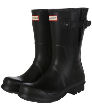 Men's Hunter Original Short Adjustable Wellington Boots - Black