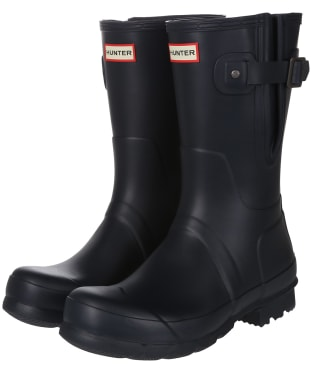 Men's Hunter Original Short Adjustable Wellington Boots - Navy