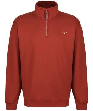 Men's R.M. Williams Mulyungarie Fleece Sweatshirt - Russet
