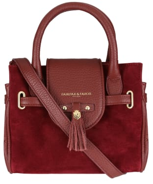 Women's Fairfax & Favor Mini Windsor Handbag - Oxblood Leather