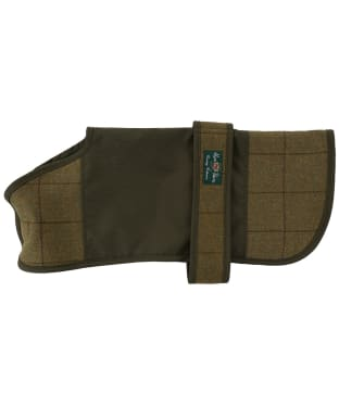 Alan Paine Tweed Showerproof Dog Coat - Lichen