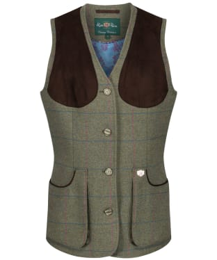 Women's Alan Paine Combrook Tweed Shooting Waistcoat - Juniper
