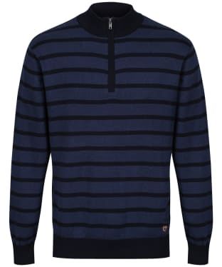 Men's Dubarry Abbeyville Zip Neck Sweater - Navy Multi