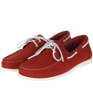 Men's Dubarry Port Deck Shoes - Ruby Red