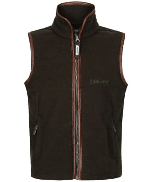 Boy's Schoffel Little Oakham Fleece Gilet, 5-14yrs - Dark Olive
