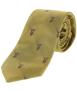 Men's Alan Paine Ripon Silk Tie - Stag - Gold