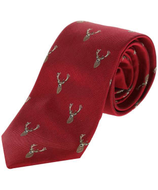 Men's Alan Paine Ripon Silk Tie - Stag - Red