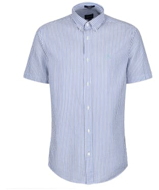 Men's GANT Tech Prep™ Seersucker Striped Shirt - Poseidon Blue