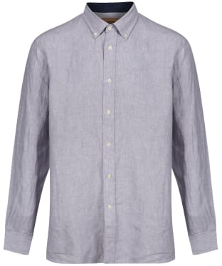 Men's Schoffel Sandbanks Linen Shirt - Grey