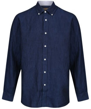 Men's Schoffel Sandbanks Linen Shirt - Navy