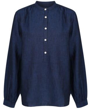 Women's Schoffel Athena Linen Shirt - Navy