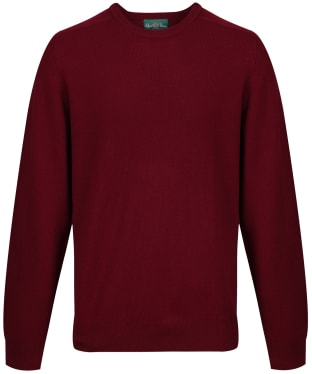 Men's Alan Paine Burford Crew Neck Sweater - Bordeaux