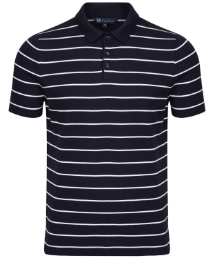 Men's Crew Clothing Knitted Polo Shirt - Navy / White