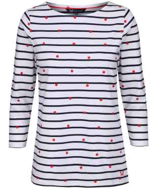 Women's Crew Clothing Interest Breton Top - Apple Print Stripe