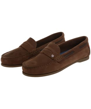 Women's Dubarry Belize Slip-on Deck Shoes - Cafe