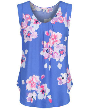 Women's Joules Alyse Sleeveless Woven Top - Blue Floral